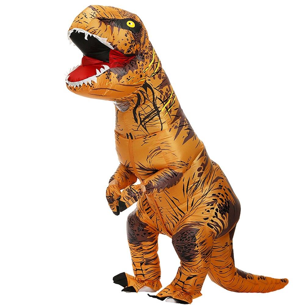 T rex dinossauro inflável traje festa fantasias cosplay fantasia mascote anime traje de halloween para adulto crianças dino dos desenhos animados