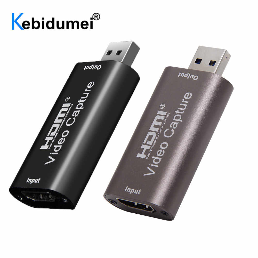 Mini USB HDMI Video Capture Card USB 2.0 HDMI Video Capture Grabber Permainan Telepon HD Kamera Menangkap Rekaman Box PC live Streaming
