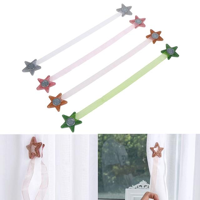 1PCS Window Clip Decor Strap Star Shape Magnet Curtain Buckle Mesh Tieback Holder
