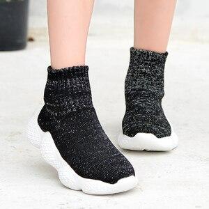 Image 3 - أحذية أطفال موضة 2019 أحذية رياضية للأولاد والبنات أحذية خفيفة للغاية للركض وممارسة الرياضة غير رسمية مزودة بنسيج شبكي للأطفال