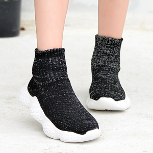 Image 3 - Obuwie dziecięce 2019 modne dziewczęta chłopcy trampki dziecięce siatkowe latające tkactwo Casual Sport Running ultralekkie buty dziecięce skarpety
