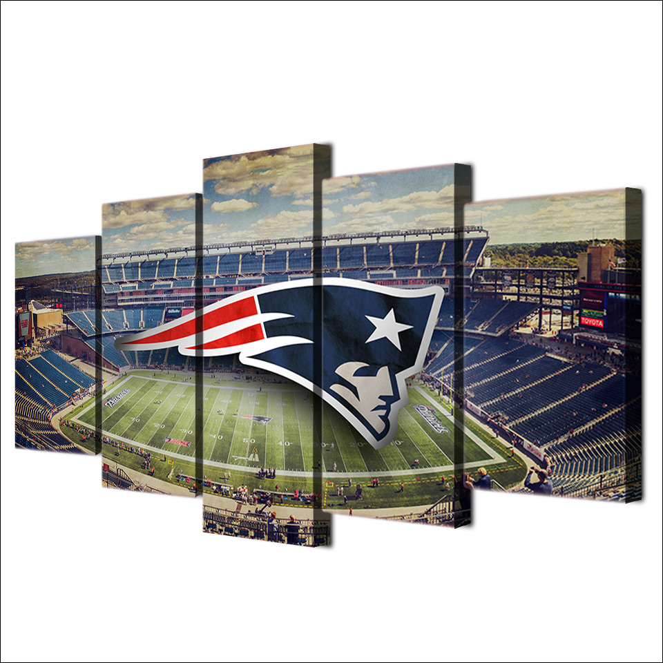 New-england-patriots-stadium-posters-for-living-room-canvas-painting-wall-pictures-Of-5-piece-canvas (2)