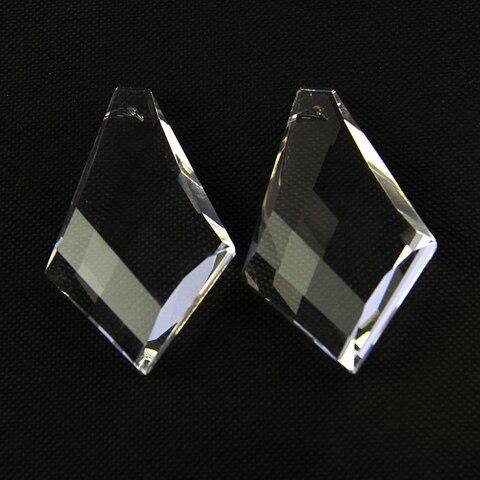 novo 5 pcs lote 50 32 13mm claro octogonal forma laco de vidro barra pendurado