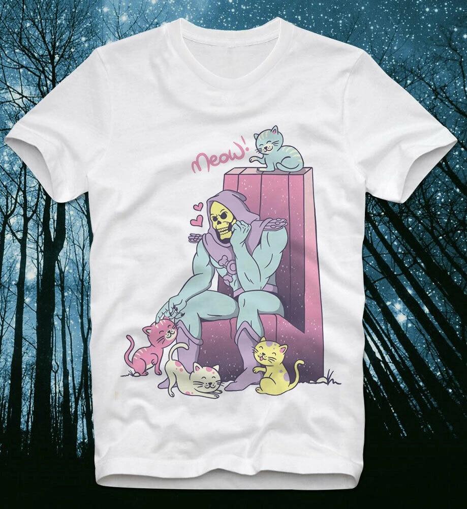 T-Shirt Skeletor Heman Masters Universe Cats Kittens Retro Vintage She-Ra Funny
