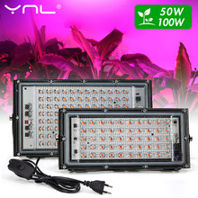 LED Grow Light Phyto Lamp AC 220V 50W 100W LED Full Spectrum Floodlight Greenhouse Hydroponic Growth Lighting Indoor Plants