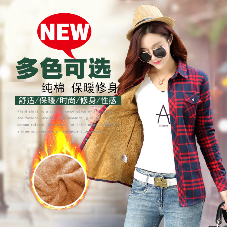 vintage Cotton flannel shirt Women 39 s 2019 Autumn Winter plaid Blouse Plus Size blusas feminina tops camisas mujer Clothes Women in Blouses amp Shirts from Women 39 s Clothing
