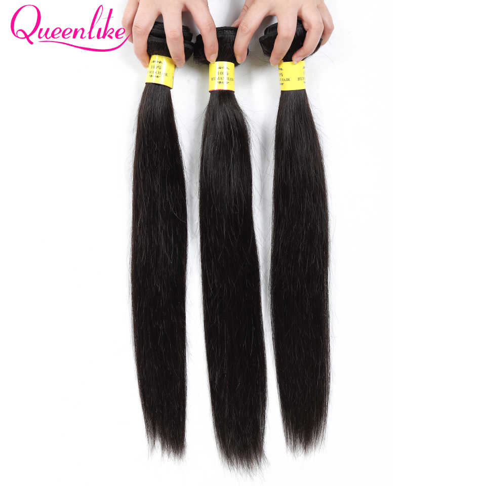 Queenlike Products 3 Bundles 100% Human Hair Weave Bundles Non Remy Hair Extensions Peruvian Straight Hair Bundles