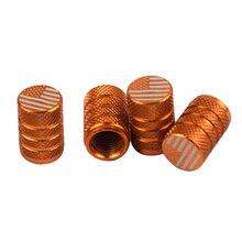 8xRacing диски струны клапана крышки колеса шины для легковых автомобилей набор-оранжевый флaг сшa yзкиe
