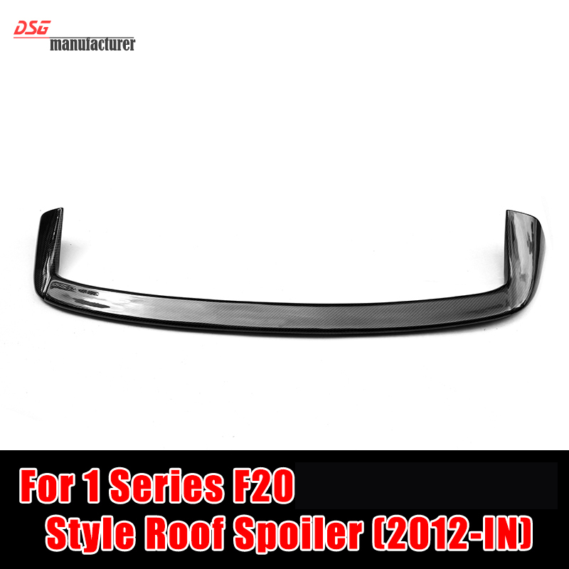 AC Schnitzer Style F20 Carbon Fiber Roof Spoiler Wing for BMW 1 Series Coupe in Gloss Black