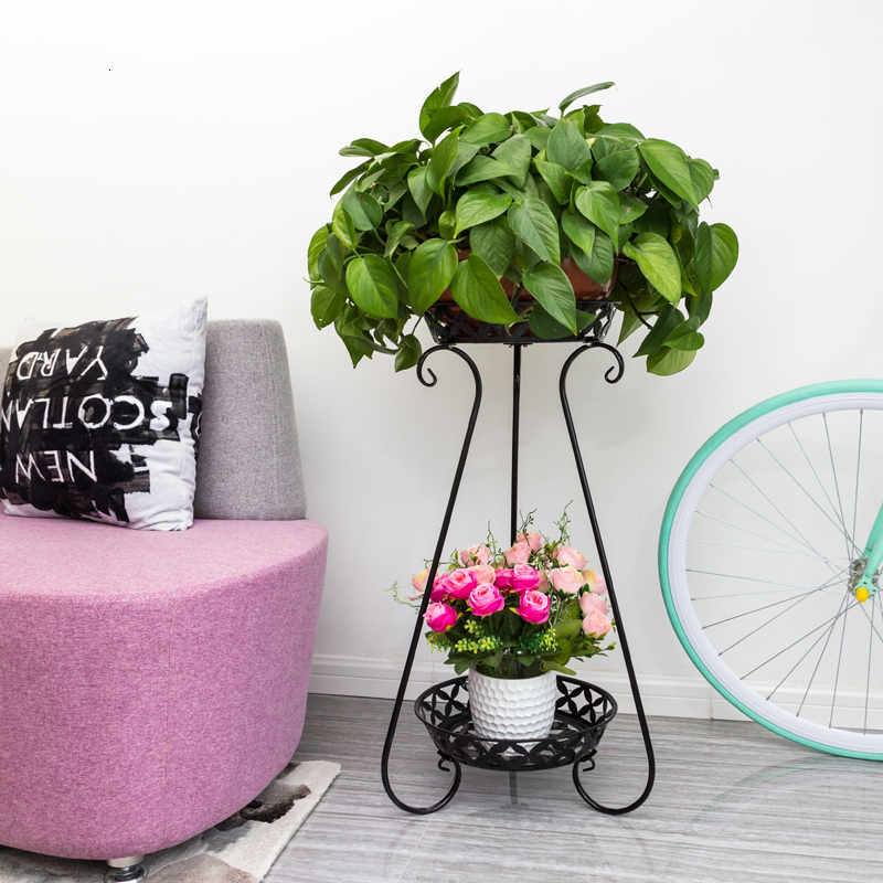 Multi-storey Balcony To Ground Green Luo Chlorophytum Flowerpot Frame European Style Indoor A Living Room Flower Airs