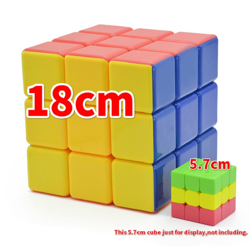 18cm 3x3x3 Magic Cube Heshu 18cm Super Big Neo Cube Puzzle 3x3 Cubo Magico Stickerless Professional Educational Toy For Kid