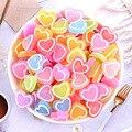 10 шт. Смола матовое сердце любовь конфеты украшения поделки с плоским основанием кабошон украшения для скрапбукинга Kawaii Diy аксессуары