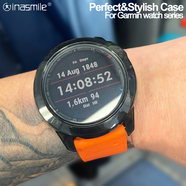 Crystal Clear TPU מקרה עבור Garmin Fenix 6 6S 6X פרו רך סיליקון מגן Case כיסוי עבור Vivoactive 4 4S שעון אבזרים