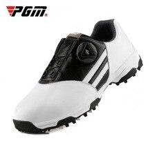 PGM детская легкая обувь для гольфа водонепроницаемая вращающаяся обувь кружевные кроссовки Нескользящие шипы дышащая обувь D0847