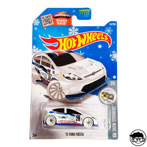 Hot Wheels '12 Ford Fiesta HW Snow Stormers 157/250 2016 Long Card Snow