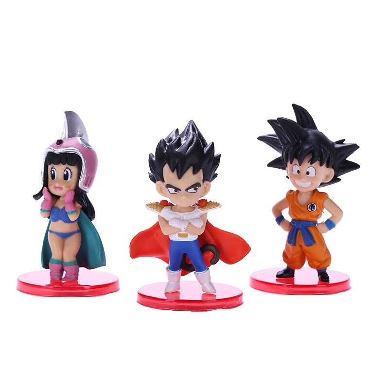 Dragon Ball DBZ Anime Figure Action Figurine Modle Doll Toys Q Version 8CM PVC Son Gohan Super Saiyan Statue Collection Figma