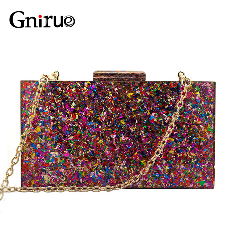 New Fashion Accessory Wallet Women Cute Bag Acrylic Sequin Night Dinner Purse Handbags Wedding Evening Bags Trendy Party Clutch