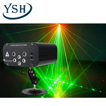 YSH Disco światła 5 wiązki 48 wzór LED Laser projektor laserowy Christmas party oświetlenie DJ aktywowane głosem Disco Xmas na ślub tanie i dobre opinie Rohs CN (pochodzenie) Efekt oświetlenia scenicznego Oświetlenie sceniczne DMX 12 w 90-240 V Profesjonalne stage dj