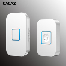 CACAZI Home Wireless Doorbell Waterproof 1 2 Transmitter 1 2 3 Receiver Battery Calling Bell Chime US EU UK AU Plug 300M Remote cacazi wireless door bell waterproof battery 2 transmitter 3 receiver us eu uk au plug home bell wireless chime ring bell