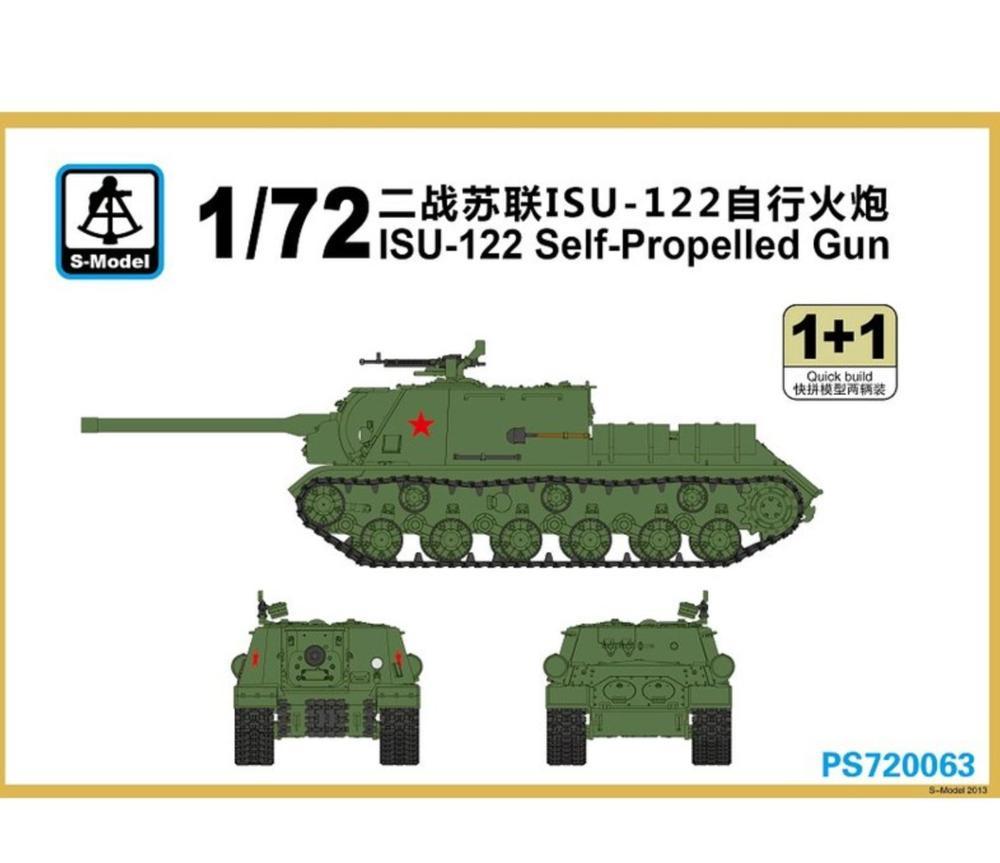 S-modèle 1/72 PS720063 ISU-122 pistolet automoteur en plastique modèle kit