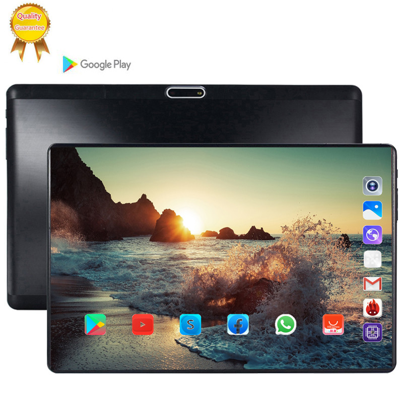 2020 128G Global Bluetooth Wifi Version Android 9.0 10.1 Inch Tablet Octa Core 6GB RAM 128GB ROM 2.5D Touch Screen Tablet 10