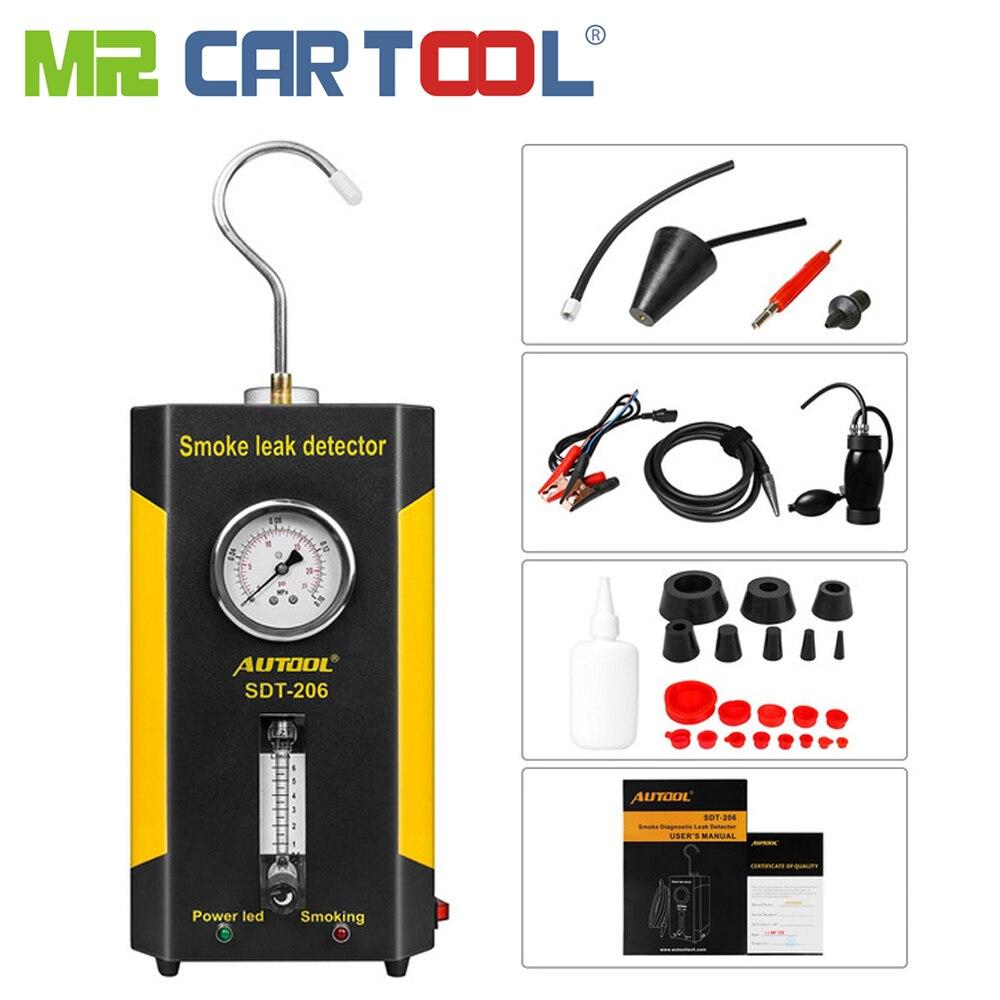 Mr cartool SDT-206 automóvel gerador de fumaça para carros localizador de vazamento máquina de fumaça detector de vazamento carro ferramenta de diagnóstico