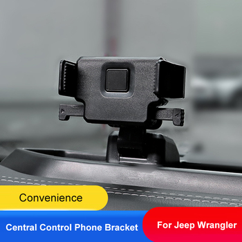 QHCP Car Phone Holder Bracket Mobile Phone Stand Central Control Phone Bracket Dual Purpose Black For Jeep Wrangler JL 2018 2019