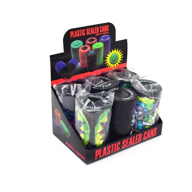 Airtight Stash Jar Multi-Use Vacuum Seal Portable Storage Container Pill Box Tobacco Box Smoking Pipe For Keep It Fresh