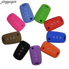 Jingyuqin remoto 3 botões dobrável flid chave do carro caso capa para kia rio k2 k5 sportage sorento titular
