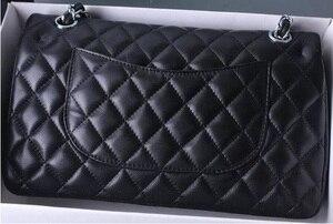 Роскошная брендовая сумка из овечьей кожи, Женская Высококачественная дизайнерская сумка с двойным клапаном 2,55, классическая сумка через п...
