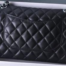 Luxury Brand Lambskin Leather Bag Women Top