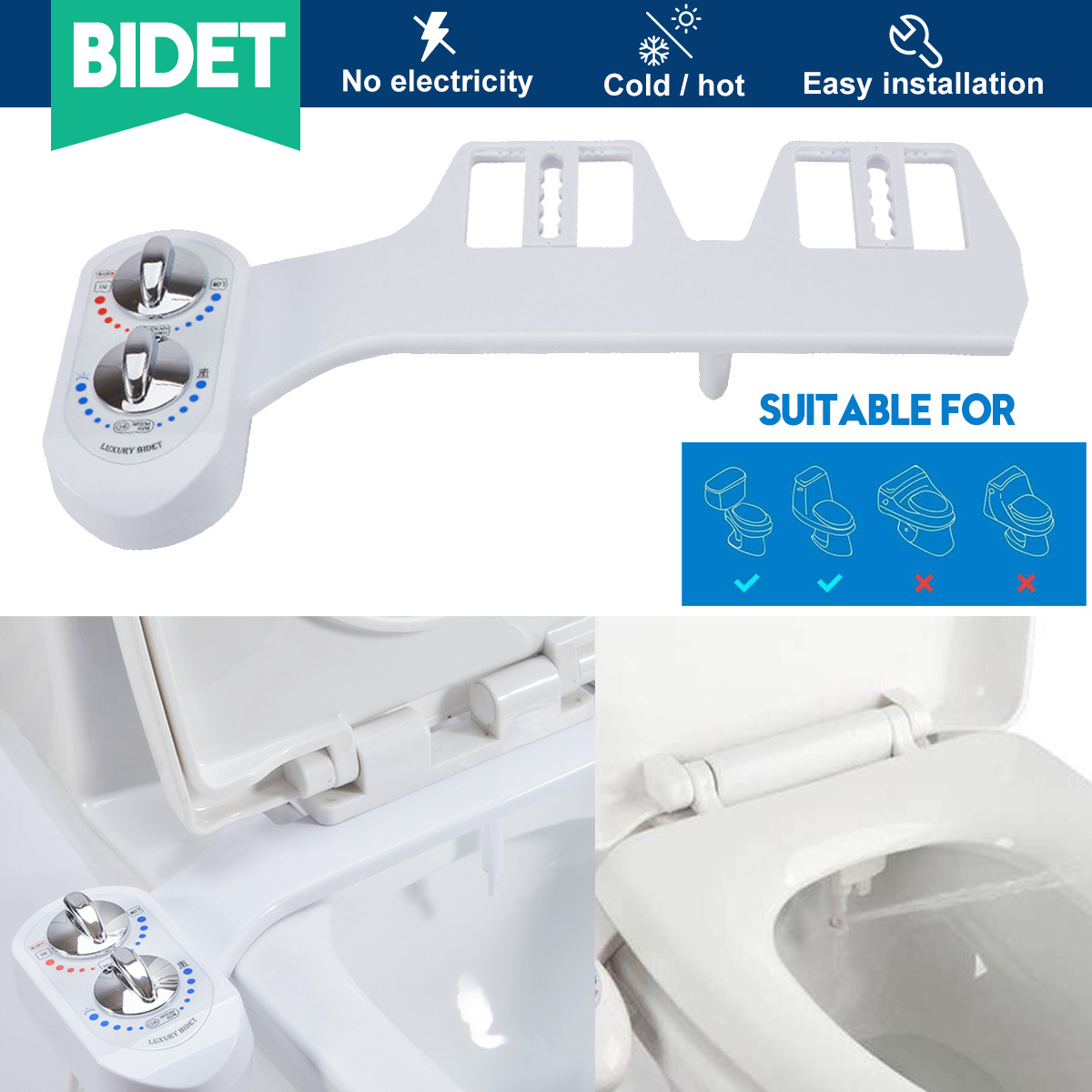 Hot And Cold Non Electric Bidet Toilet Seat Bidet Attachment Self Cleaning Nozzle Fresh Water Bidet Sprayer Mechanical Bidet Bidets Aliexpress
