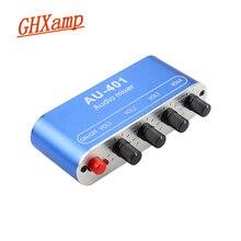 GHXAMP Mixer Stereo (4 di Ingresso, 1 uscita) Singolarmente Controlli Consiglio FAI DA TE Cuffie Amplificatore Caso DC12V