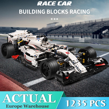 MOULD KING MOC 13117 Technic City F1 Racing Car The 24 Hours Race Car Model Building Blocks Bricks Compatible Lepining 42096 Toy