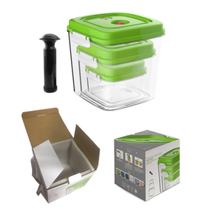 Image 5 - ABS büyük kapasiteli boş konteyner yapımı gıda kare plastik saklama kutusu pompa ile 500ML + 1400ML + 3000ML