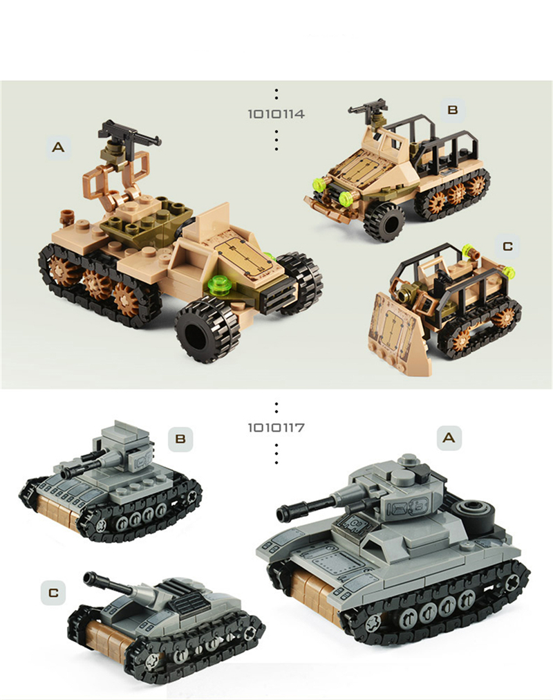1061PCS Tank Building Blocks Toys Mini figures Vehicle Aircraft Boy Educational Block Military Compatible LegoINGlys Bricks (11)