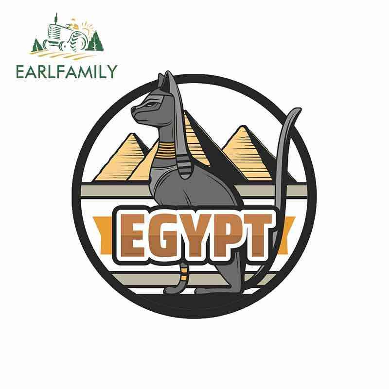 EARLFAMILY 13 centimetri x 12.9 centimetri per Bastet Egiziano Dea Divertente Autoadesivi Dell'automobile Del Vinile Impermeabile RV VAN Auto Accessori Anime segno Logo