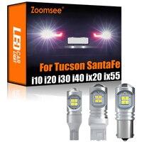 Zoomsee 2Pcs LED retromarcia bianco per Hyundai i10 i20 i30 i40 ix20 ix35 ix55 Tucson Santafe Canbus lampadina di Backup esterna