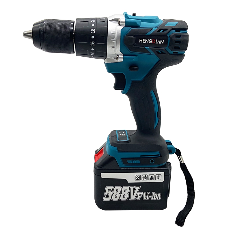Tools : 13mm Cordless Impact Brushless Drill Electric Hammer Drill 20 3 Torque With Makita Model Battery 18V