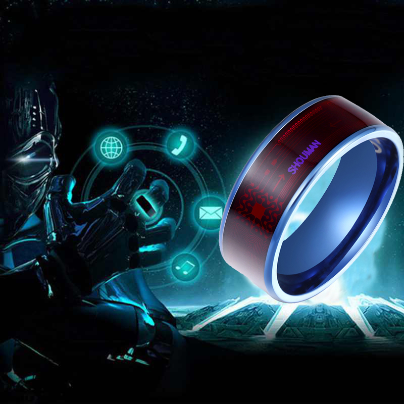 3UMeter Fashion Men's Smart Ring Magic Wear NFC Finger Digital Ring For Android Phones With Functional Couple Stainless Steel