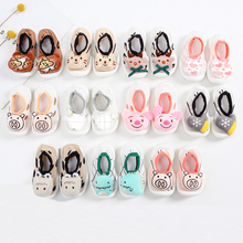 Unisex Baby Shoes First Shoes Anti-slip Baby Walkers Toddler First Walker Baby Girl Kids Soft Rubber Sole Baby Shoe Knit Booties cheap CN(Origin) Cotton Fabric Shallow Spring Autumn Slip-On Solid Fits true to size take your normal size Suitable for baby s delicate skin