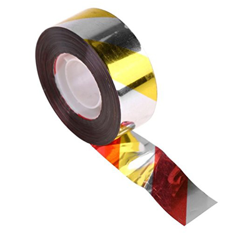 Bird Repellent Scare Tape Double Sided Ribbon Flash Bird Deterrent Tape Highly Reflective