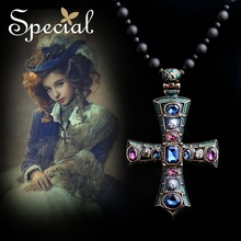 Special Winter New Arrival Fashion Style Necklaces & Pendants Western Cross Free Shipping Gifts For Girls Women XL150107