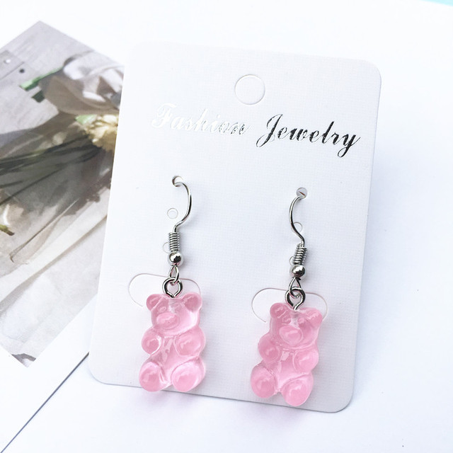 Bear Drop Earring Resin Cartoon Sweet Candy Colorful Animal Unique Resin For Women Funny Party Jewelry.jpg 640x640 - Bear Drop Earring Resin Cartoon Sweet Candy Colorful Animal Unique Resin For Women Funny Party Jewelry Christmas claus earring