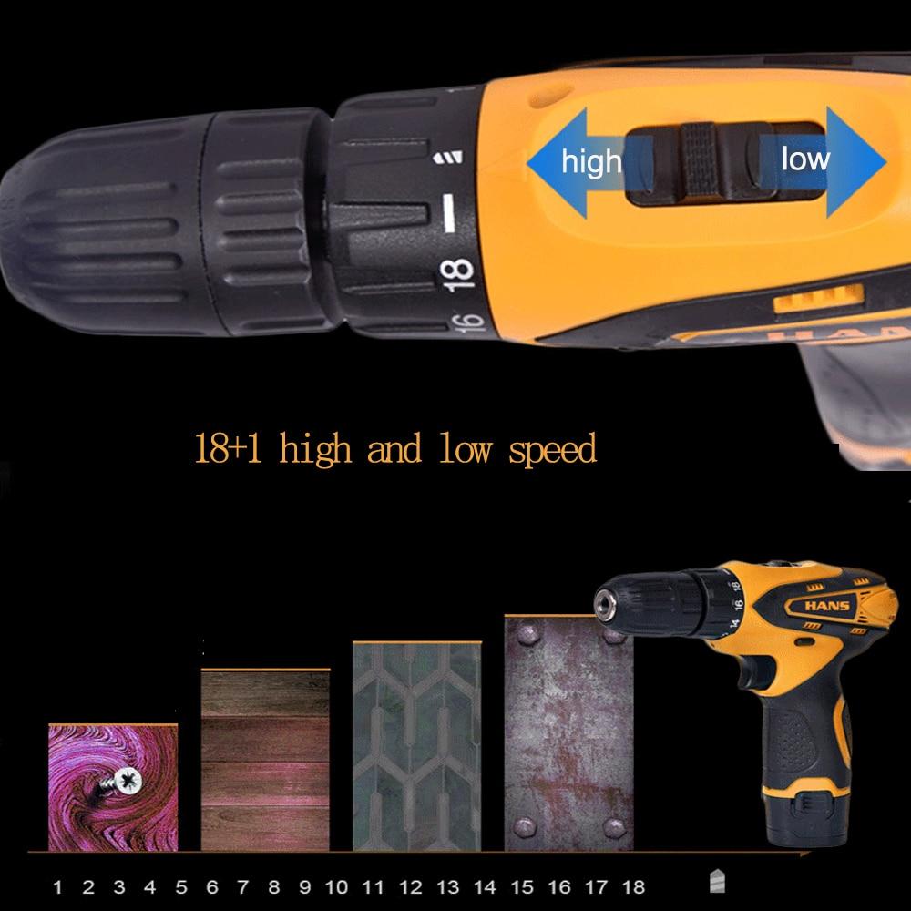 Drill Mini Screwdrive Cordless Drill 12V Rotary Parafusadeira Batteries 2 Lithium Power Taladros Wireless Tools Machine Electric