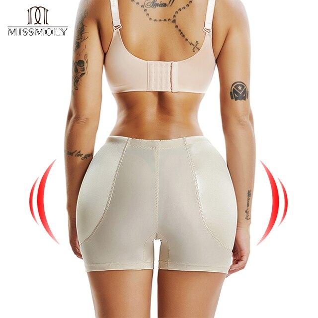 Fake ass cintura alta barriga controle sem costura shapewear hip enhancer espólio acolchoado bunda levantador calcinha boyshorts para mulher