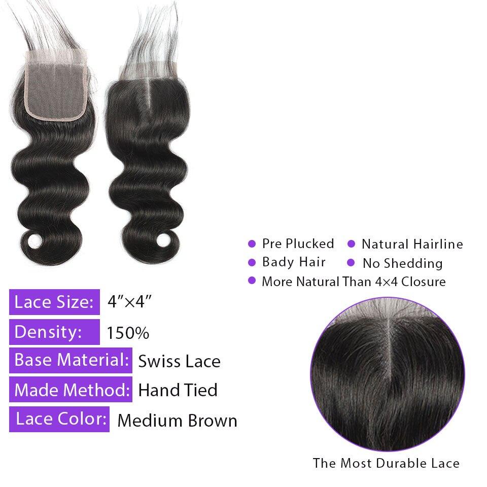 fechamento indiano do laco cabelo 4x4 01