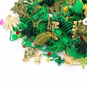 Baum zu Pflanzen Zubehör Teile Bausteine Kompatibel Gras Bush Blatt Dschungel Militär Stadt Freunde MOC Ziegel Spielzeug Für Kinder