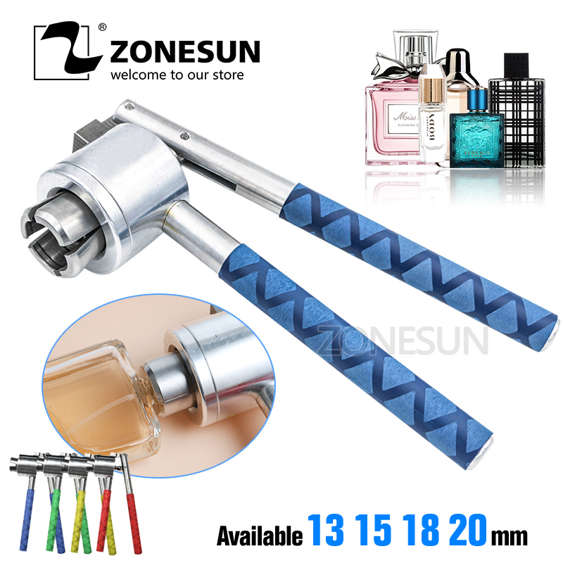 ZONESUN Manual Crimping Tool for Perfume Bottles Spray Bottle Capping Machine 13mm15mm 18mm20mm Perfume Bottle Capping Machine