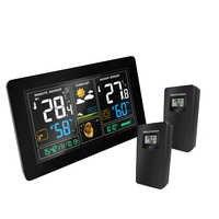 Stazione Meteo Wireless Indoor Outdoor in Strumenti di Temperatura di Umidità di Temperatura Previsioni Meteo Rcc Snooze Alarm Clock